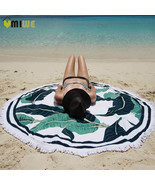 150cm Round Towel Beach Yoga Mat Throw Blanket Tapestry Hippie Picnic Ta... - $24.67 CAD