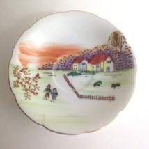 "UCAGCO CHINA Saucer 5"" Hand painted House Home Scene Made in JAPAN - $13.31"