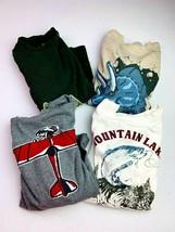 Gymboree Boys Size 5 Long Sleeve lot of 4 Shirts Airplane, Fishing, Dinosaur - $17.81