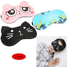 IQinQi Cute Sleeping Mask for Women, Reusable Cold and Hot Therapy SPA G... - $15.20