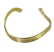 enticing Plain Gold Plated multi Bangle Fashion simply US - $13.16