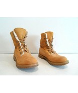 Timberland Women's Shearling Fold Down Boots Size 8 M Wheat Leather Shoe... - $74.99