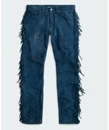 Men's New Native American Buckskin Goat Suede Leather Fringes Western Pa... - $98.01+