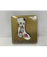 Royal Doulton ceramic Christmas stocking ornament 1996 camels - $6.92