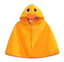 PANDA SUPERSTORE Baby Clothing Baby Cloak Shawl Thick Blankets Duckling Cloak