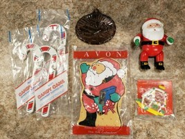 7 Avon Holiday Gifts Angel Santa Ornaments Switch Plate Magnet Candy Can... - $19.38