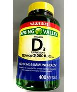Spring Valley Vitamin D3 Supplement 125 mcg 5,000 iu SOFTGELS - 400 Ct D 3 FRESH - $23.93