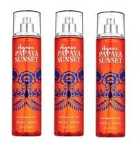 Bath & Body Works Agave Papaya Sunset Fie Fragrance Mist 8 oz x3 - $29.99