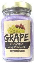 Grape 6oz Victorian Square Glass Jar Soy Candle - Made with Essential Oi... - €6,73 EUR