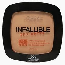 L'oreal Infallible Pro-Matte - Oil Free 16 HR Powder 200 Natural Beige - $7.59