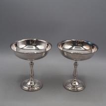 Vintage Pair Oneida Silverplate Berry Dessert Serving Bowls - $24.74