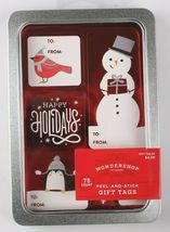 Lot of 3 Pack 75 Count Peel & Stick Holiday Christmas Gift Tags To From Stickers image 4