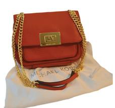 Michael Kors Crossbody Handbag Pebble Leather Double Chain Strap - $104.50