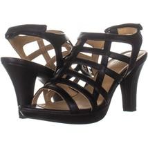 naturalizer Daphne Strappy Heeled Sandals 167, Black Smooth, 8 US / 38 EU - $32.25