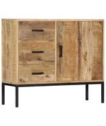 vidaXL Solid Mango Wood Sideboard Side Cabinet Chest of Drawer Storage Unit - $198.99