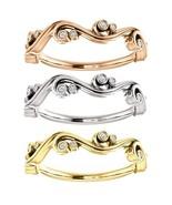 0.33 Carat Genuine Diamond Sculptural Bezel Set Band in 14k Solid Gold  - $499.00