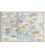 "1907 Language Map 16""x24"" World Geography Historical Homeschooling Home School - $16.34"