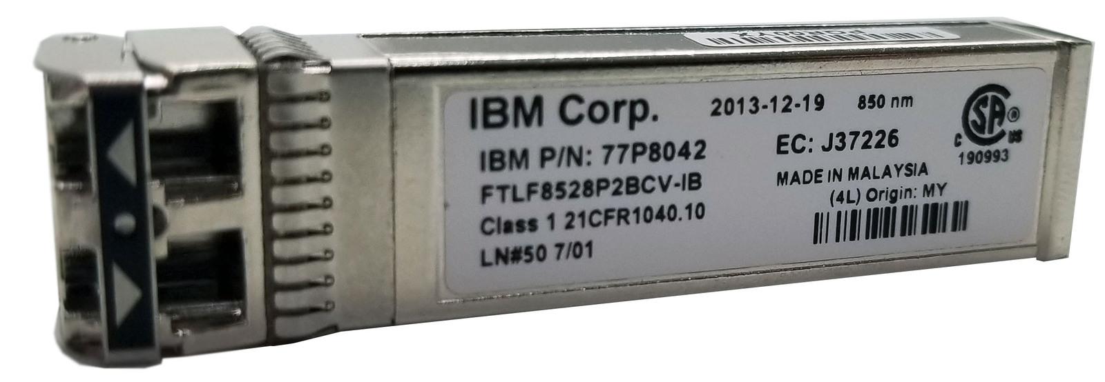 IBM 77P8042 8Gb 850nm Shortwave SFP Transceiver FTLF8528P2BCV-IB HSS Bin:8