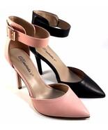 Breckelles Isabel-61 Blush High Heel Pointy Ankle Strap Pumps Size 10 - $26.40