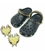 Vivienne Tam x Crocs Unisex Black Gold Studded Dragon Chain Clog Shoes M... - $95.71
