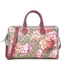 GUCCI GG Supreme Monogram Blooms Large Top Handle Boston Bag Rose - $1,650.00