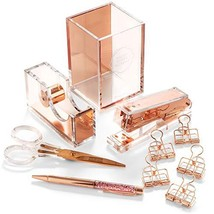 Stylish Office Desk Accessories and Supplies Kit For Women , Rose Gold -... - €70,07 EUR