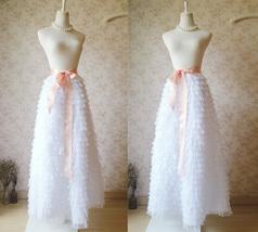 WHITE Long Tulle Skirt White Layered Tulle Skirt White Wedding Skirt image 2