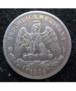 1886 Mexico 25 Centavos Silver Coin AU Very Nice! - $15.80