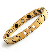 10MM Silver/Gold Mens Tungsten Carbide Bracelets Health Energy Bangle Chain - $19.99
