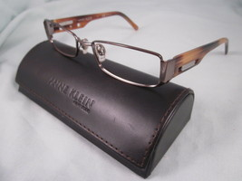 Anne Klein NY Eyeglass Frames AK9077 466 Brown Silver Metal Plastic Eyewear - $26.96