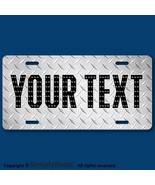 Your Text Name Personalized Custom License Plate Auto Car Tag DIAMOND PL... - $14.84