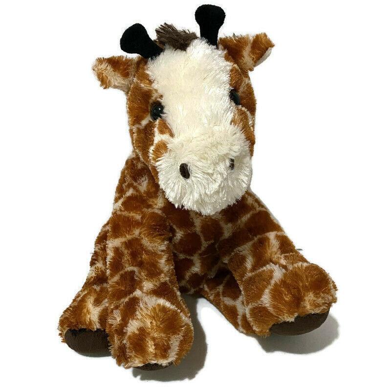 "Aurora Giraffe Plush 13"" Sitting 2016 Super Soft Cute Big Feet Chunky Chubby Toy - $14.03"