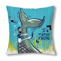 "InterestPrint? My Beast Whale Friend Throw Pillow Cover 18""x 18""(Twin Si... - ₨1,009.96 INR"