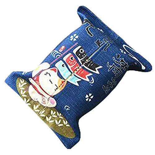 Primary image for PANDA SUPERSTORE Full of Vitality - Linen Cute Lucky Cat Tissue Holder Facial Ti