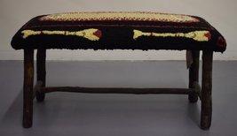 Adirondack Canoe w/ Paddles Stitchwork Bench - $350.00