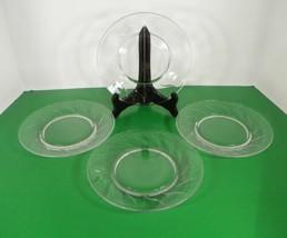 Fostoria Crystal Chapel Bells Salad Plate (S) Lot Of 4 Vintage Elegant Glass - $39.55