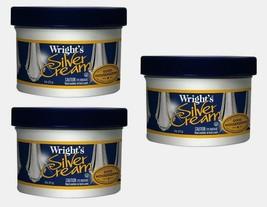 3pk~Wright's SILVER CREAM 8 oz Polish Jewelry Remove Scratches CD DVD Ge... - $25.99