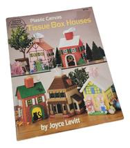 Plastic Canvas Tissue Box Houses 5 Patterns American School of Needlewor... - $18.32