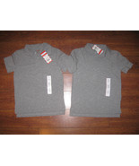2pc Sz XS 4/5/6*T BOYS GIRLS KIDS GRAY GREY POLO SHIRT SOLID SCHOOL UNIF... - $12.99