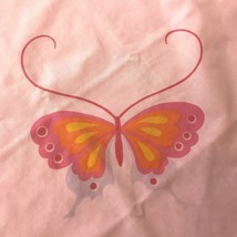 Vintage Martex Butterfly Bed Sheets Set Pink Twin Size Designer Hanae Mo... - $34.95