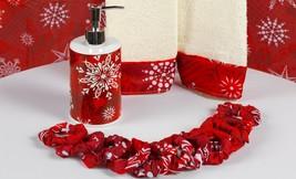 "Carnation ""Holiday Snow"" 16 Piece Bath Set including shower curtain, XFS... - $39.59"