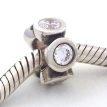 Authentic Pandora Sterling Silver Lights Clear Cz Bead Charm 790226cz New - $22.84