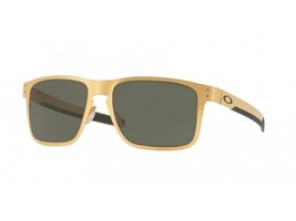 Oakley Sunglasses HOLBROOK Metal OO4123-08 Satin Gold Frame with Grey Le... - $119.99