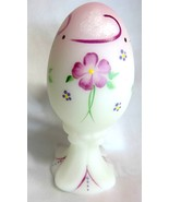 Fenton Art Glass Hand Painted Spring Finery Egg Figurine Paperweight 5146YP - €41,26 EUR