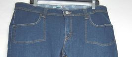 Levi 542 jeans SZ 16 x 33 M bootcut mid rise dark wash stretch W37 L33 tall long image 4