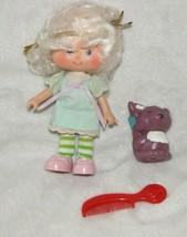 "Vintage Strawberry Angel Cake & Souffle Doll Vinyl 1980s Poseable 5 1/2"" - $21.77"
