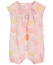 First Impressions Baby Girls Geometric Dot-Print Cotton Romper, Size 12 Months - $10.88