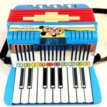 Vintage Avril Bontempi Walt Disney Kids Toy Accordion Made in Italy Work... - $39.59
