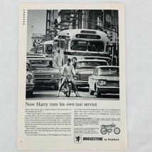 Bridgestone Rockford 90 Sport Motorcycle Print Ad Vintage 1966 Impala Co... - $9.47