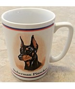 Doberman Pinscher coffee tea mug cup ceramic R Maystead Papel Portraits ... - $19.79